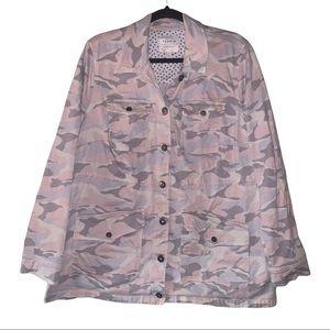 Torrid light camo twill utility button jacket. 2X